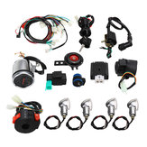 Full Electric Start Engine Wiring Harness Loom For CDI 110cc/125cc Quad Bike ATV