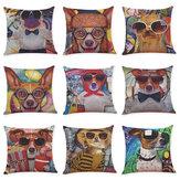 HonanaBX45x45смПечатьдляживотных Собака Роскошная подушка для подушек Graffi для подушек Чехол Подушки для подушек