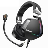 Lenovo H402 Gaming Headphone USB 7.1 Sonido envolvente Deep Bass RGB Colorful Light Headset con micrófono para PC Laptop Gamer