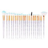 20Pcs Transparenz Farbverlauf Make-up Pinsel Set