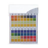 100PCS / doboz PH tesztcsíkok Precíziós négyszínű összehasonlítás 0-14 PH mérése ivóvíz minőségi csíkok