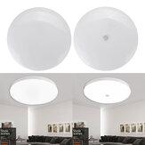 18W Rodada LED Luz de Teto Infravermelho Sensor / Noite de Controle de Voz e Luz