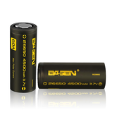 6 pz Basen BS26003 26650 4500mAh 3.7 V 60A Unprotect Flat Top ricaricabile Li-ion Batteria