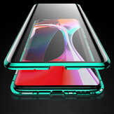 Bakeey 360º Curved Screen Front+Back Double-sided Full Body 9H Tempered Glass Metal Magnetic Adsorption Flip Protective Case For OnePlus 8 Non-original