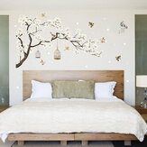White Blossom Tree Branch Wall Sticker Cherry Blossom Decals Mural Decor