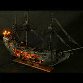Pirate Full Scene Black Pearl Seilskip Båt Modell Kit DIY Crafts