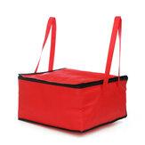 Sac isolé portatif imperméable de 17 pouces pour le sac de livraison de nourriture de pizza