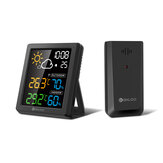 DIGOO DG-8647 Mini HD Color Screen LCD Weather Station Alarm Clock Smart Hygrometer Thermometer Snooze Dual Desktop Clock