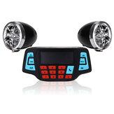 Motocicleta guiador amplificador de rádio estéreo alarme alto-falante mp3 fm player com função bluetooth