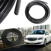 5m Rubber Car Interior Moulding Trim Strip Black Flexible Decoration Dashboard Door Edge Line