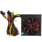 20 + 4 broches 1000 W ATX PC ordinateur de bureau alimentation PSU PFC 220 V ventilateur silencieux rouge
