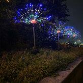 90/120/150 LED Lâmpada solar Starburst Fairy String Light Jardim ao ar livre
