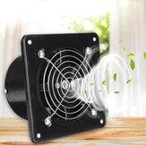 8 Inch Aspa del ventilador de acero inoxidable con carcasa negra Ventilador de escape silencioso de alta velocidad