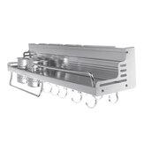 Espaço brilhante rack de cozinha de alumínio com corrimão aumentado duplo suporte de copo condimento rack de armazenamento