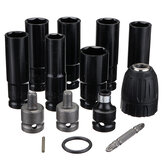 12 in 1 Electric Wrench Hex Socket Head Set Kit Electric Wrench Adapter 6 Sleeve