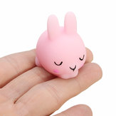 Shy Bunny Rabbit Mochi Squishy Squeeze Healing Toy Coleção Kawaii Stress Reliever Gift Decor