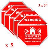 5Pcs Hauptwarnungs Sicherheits Aufkleber Abziehbild Zeichen für Fenster Türen