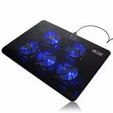 5 wentylatorów LED port USB chłodzenie statywu schładzacz do 17-calowego notebooka do laptopa