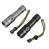 XANES 183-T6 XML-T6 1000Lumens 3Modes Portable Brightness Tactical Zoomable LED Flashlight