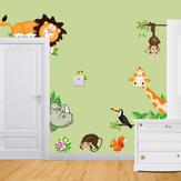 الكرتون الحيوان الجدار ملصق غرفة المعيشة المنزل الديكور الإبداعية صائق دي جدارية جدار الفن