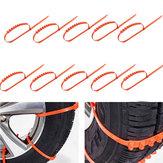 10 ADET Araba Kamyon Kar Buz Çamur Zincirleri Tekerlek Lastik Lastik Anti Skid Kalınlaşmış Tendon