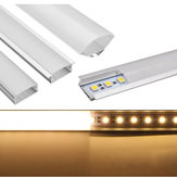50CM U/YW/V Shape Aluminum Channel Holder For Bar Under Cabinet LED Rigid Strip Light Lamp