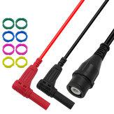 P1207 W pełni izolowany kabel BNC z wtyczką Banana Plug Kabel 50 Ohm Impedancja Q9 Złącze RG58 Kabel koncentryczny