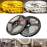 5M SMD5050 300 LED Blanco/Caliente Blanco no Impermeable Flexible Tira de Luz de Lámpara de Cinta DC12V