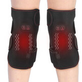 45℃-65℃ Electric Heated Knee Pads Men Women Vibration Massage Far Infrared Middle-Aged Elderly Warm Wrap Pain Relief Heating Massage Knee Pads Adjustable Temperature