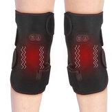 इलेक्ट्रिक गरम घुटने पैड पुरुष महिला कंपन मालिश सुदूर इन्फ्रारेड मध्य-वृद्ध गर्म लपेटें दर्द रा