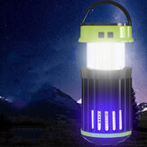Portable Solar Charging Electric Mosquito Killer Lamp 3 Mode LED Rechargeable Camping Waterproof Tent Light
