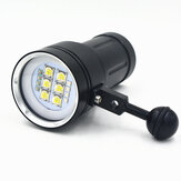A11 100 M Underwater 20000Lumens 6xXHP90 4xRed 4x Immersione subacquea Fotografia Video Light