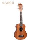 Naomi Ukulele Sapele Maun Ukulele 21 '' SopranoTenor Ukulele Akustik Gitar