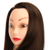24'' Brown 30% Real Hair Training Mannequin Head Model
