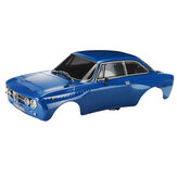 Killerbody 48323 1/10完成したRC Car Body Shell for Alfa Romeo 2000 GTAm Blue Printed