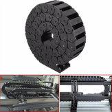 15 milímetros x 30 milímetros cabo de reboque de nylon acessório gravura máquina transportadora de arame cadeia de arrasto