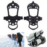 Outdoor Snow Ice Gripper 10 Nails Ice Snow Crampons Strap Climbing Cleats Spikes Non Slip Boots Silicone Covers Shoes Grip