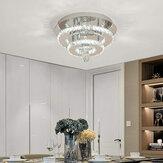 AC165-265V 30 CM moderno lustre de cristal regulável LED luz de teto com Controle Remoto para luminária interna
