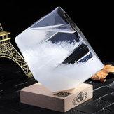 Prognoza pogody Crystal Storm Glass Cube Shape Forecaster Barometr Decor Prezent