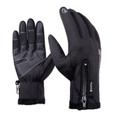 DB03 Unisex Touch Screen Windproof Waterproof Sports Winter Full Finger Ski Gloves With Zipper