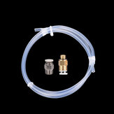 1 M 2 * 4 MM Transparent PTFE Tube + 1 PCS PC4-01 Connecteur + 1 PCS KJ04-M6 Connecteur DIY 3D Imprimante Pièce Kit