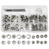 31pcs Metal Canvas Buckle Quick Snap Fastener Buttons Screws Kits