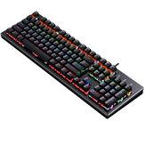 Y-FRUITFUL K880 104 teclas Mecânico teclado USB com fio azul switch RGB retroiluminado teclado para jogos