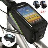 ROSWHEEL 5.5inch Bike Phone Bag Rainproof Touch Screen Bicycle Front Frame Bag Cycling Bike Phone Pouch Bag