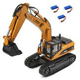 Wltoys 16800 plusieurs Batterie RTR 1/16 2.4G 8CH RC pelle ingénierie véhicule éclairage modèle sonore