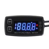 12 V Digital LCD Motor Multímetro Tach Hour Meter Tacómetro Termómetro Medidor de temperatura Impermeable