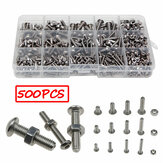 500pPCS Stainless Steel Hex Socket Cap Head Bolts Screws Nuts M3 M4 M5 304 Kit