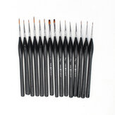 15 Pcs Nail Hook Line Pen Set Triangle Pole Miniature Detail Art Drawing Pens Brushes for Oil Watercolor Painting