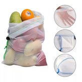 10pcs maille réutilisable sacs à fruits stockage de fruits légumes shopping sac d'épicerie