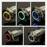 12V 16mm фиксирующий ангельский глаз LED кнопочный переключатель с плоской головкой с подсветкой кнопочный переключатель